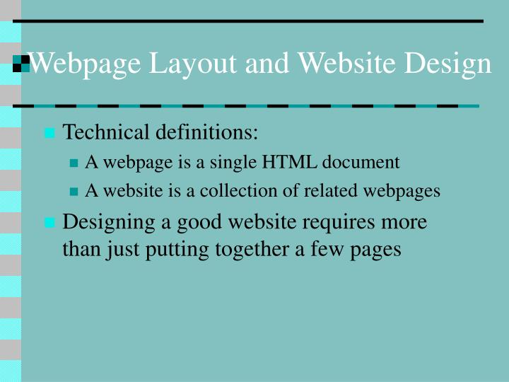 Webpage Layout and Website Design