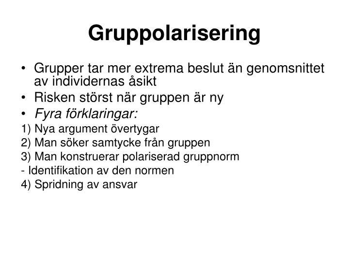 Gruppolarisering