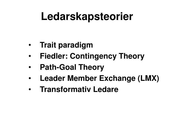 Ledarskapsteorier