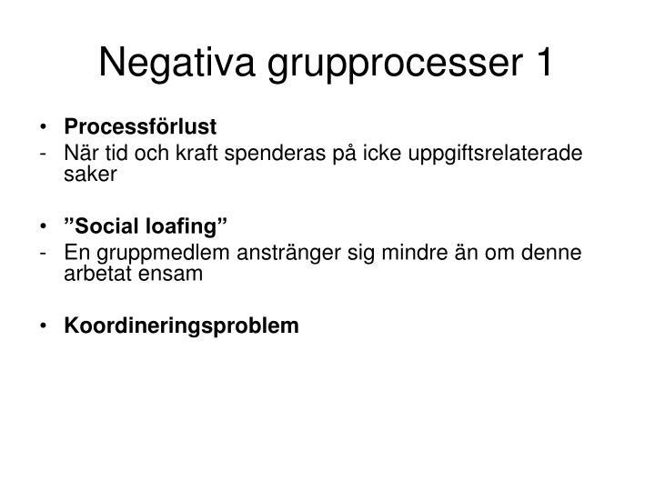 Negativa grupprocesser 1