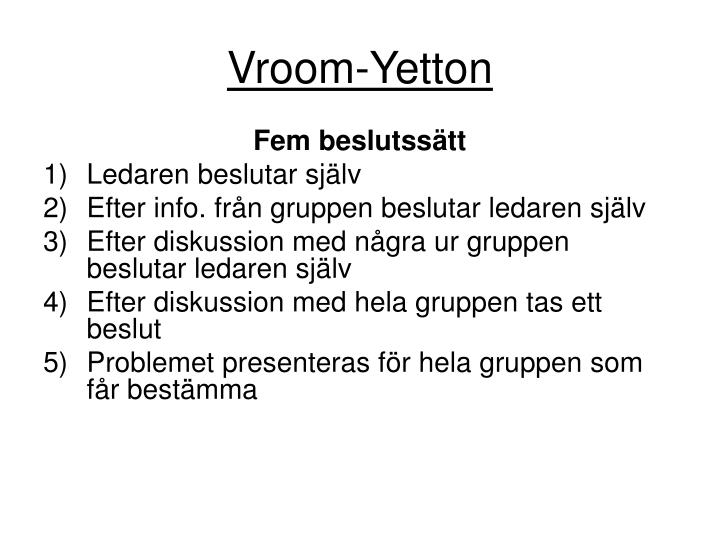 Vroom-Yetton