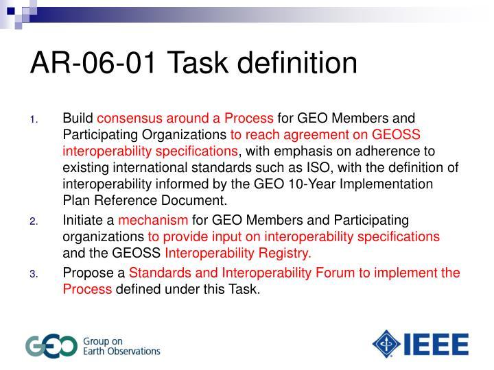 AR-06-01 Task definition
