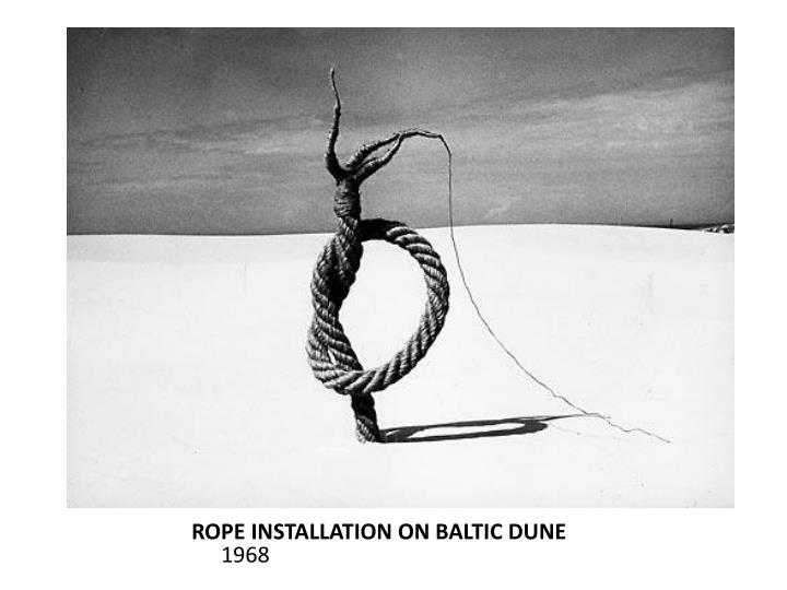 ROPE INSTALLATION ON BALTIC DUNE