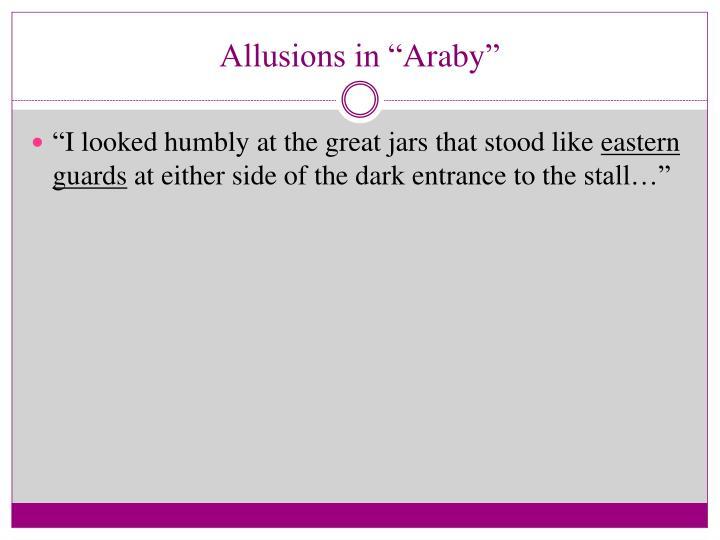 """Allusions in """""""