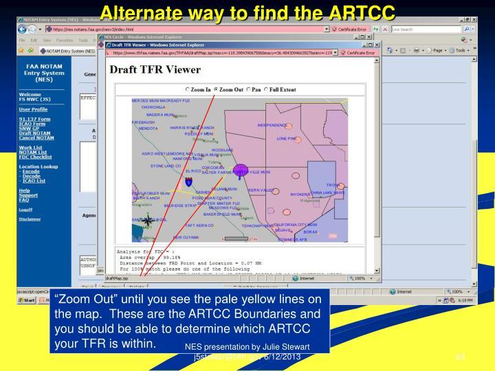 Alternate way to find the ARTCC