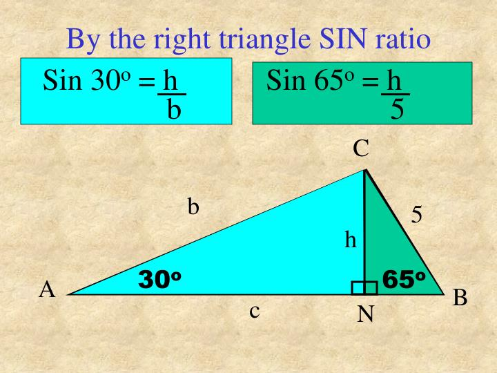 By the right triangle SIN ratio