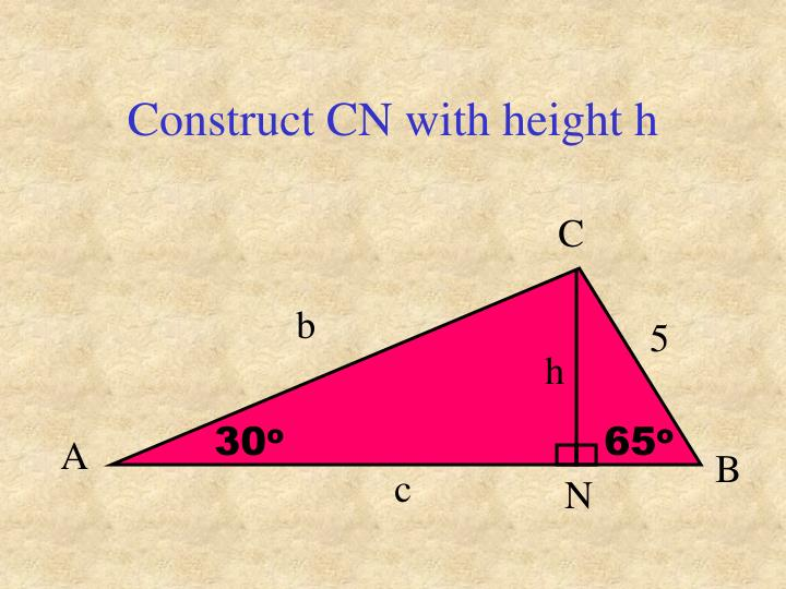 Construct CN with height h