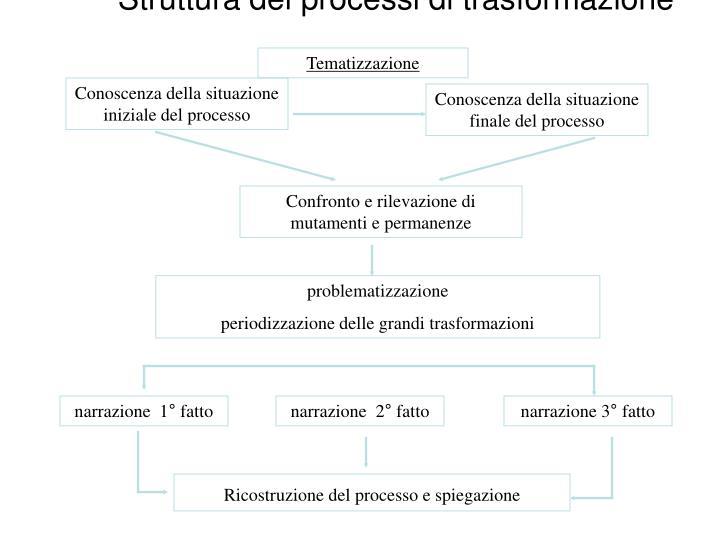 Struttura dei processi di trasformazione