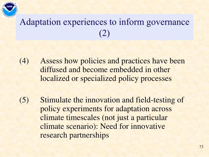 Adaptation experiences to inform governance (2)