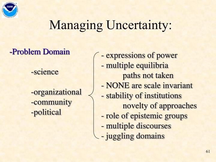 Managing Uncertainty: