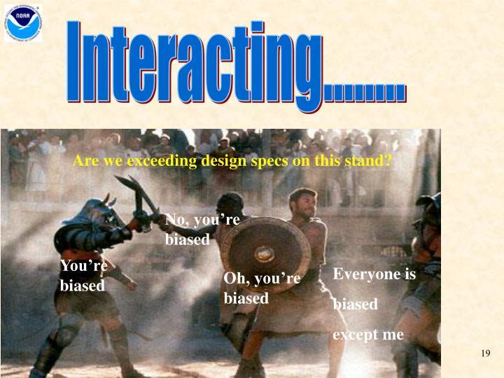 Interacting........