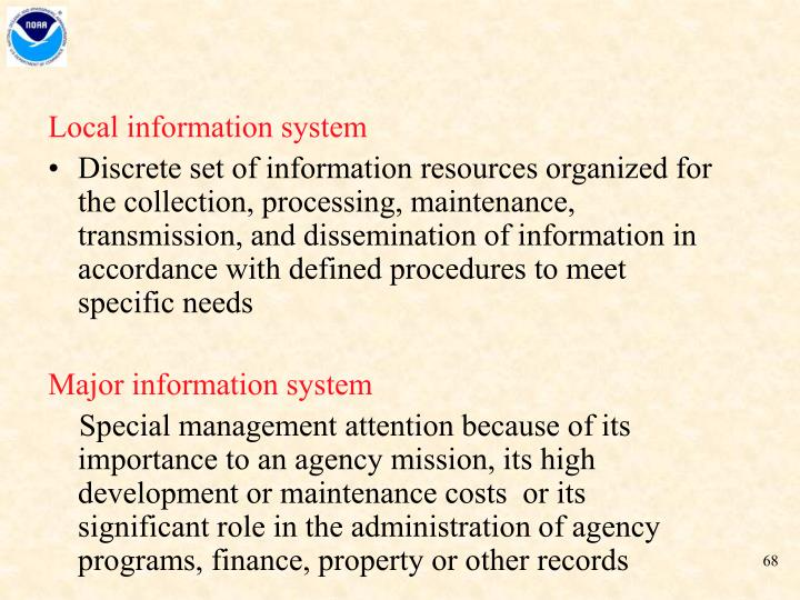 Local information system