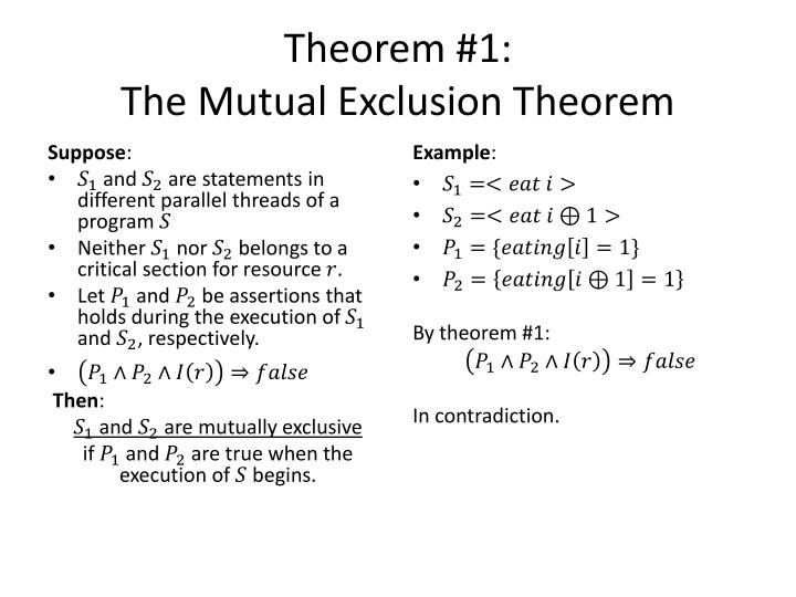 Theorem #1: