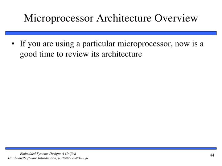 Microprocessor Architecture Overview