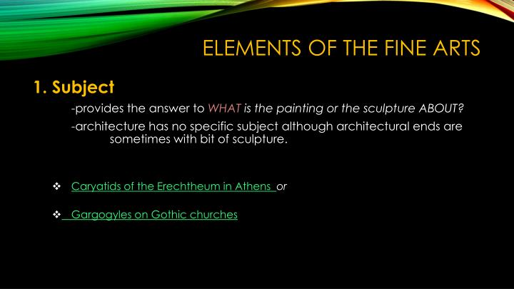 Elements Of Fine Arts : Ppt basic elements of the arts powerpoint presentation