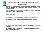 assessment of listed company investor protection characteristics