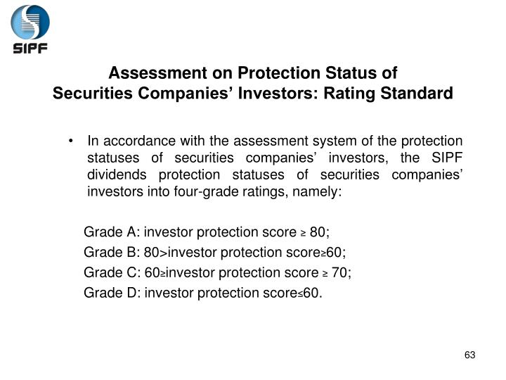 Assessment on Protection Status of