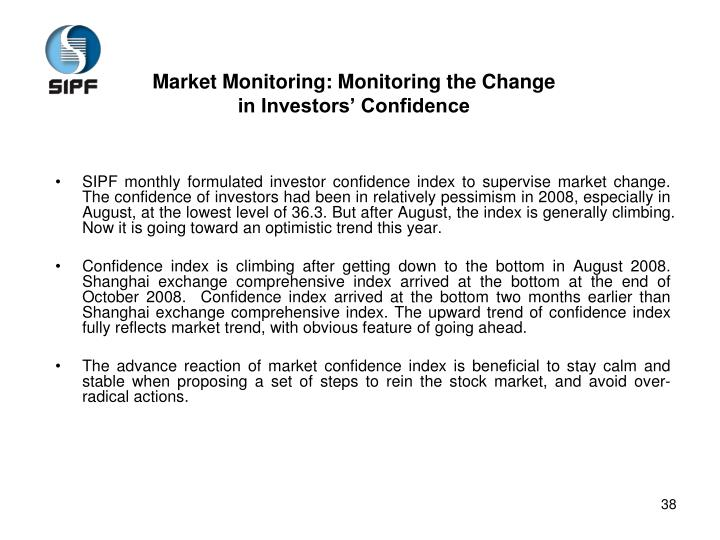 Market Monitoring: Monitoring the Change