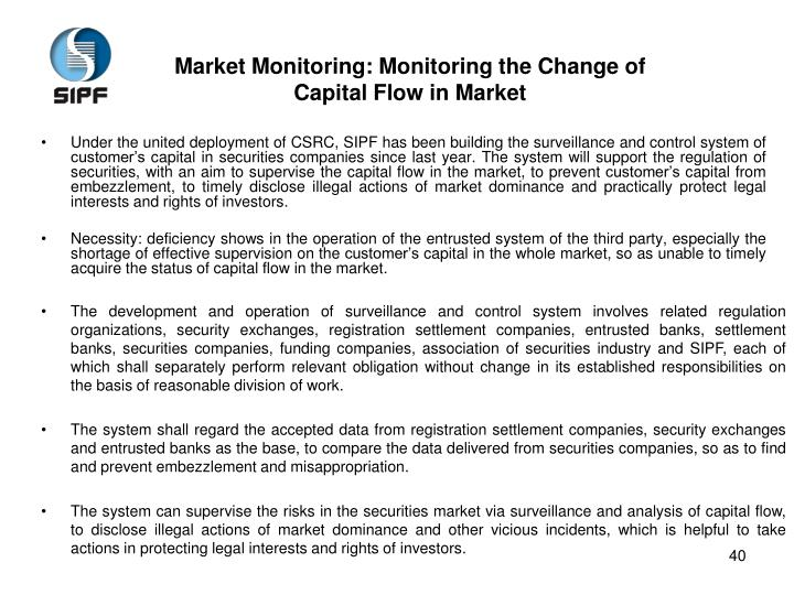 Market Monitoring: Monitoring the Change of