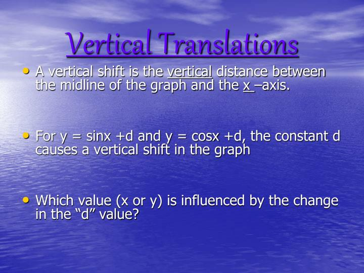 Vertical Translations