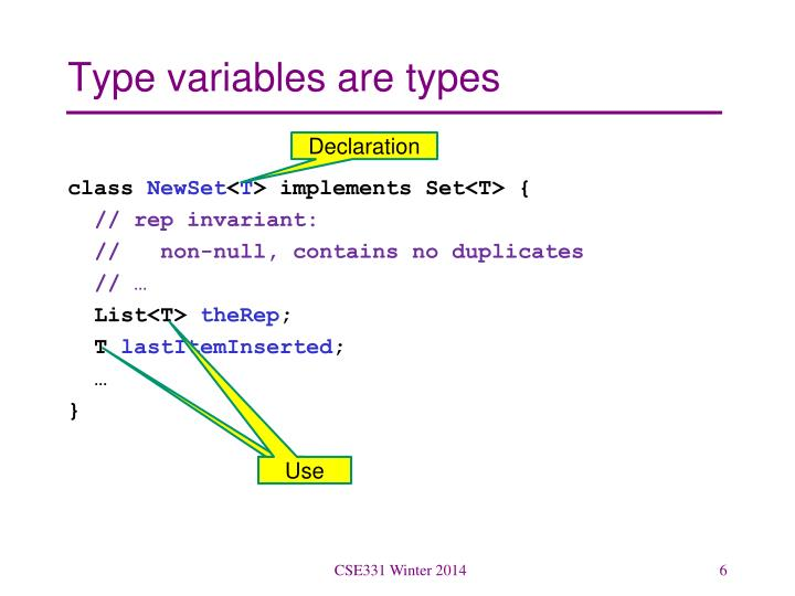 Type variables are types