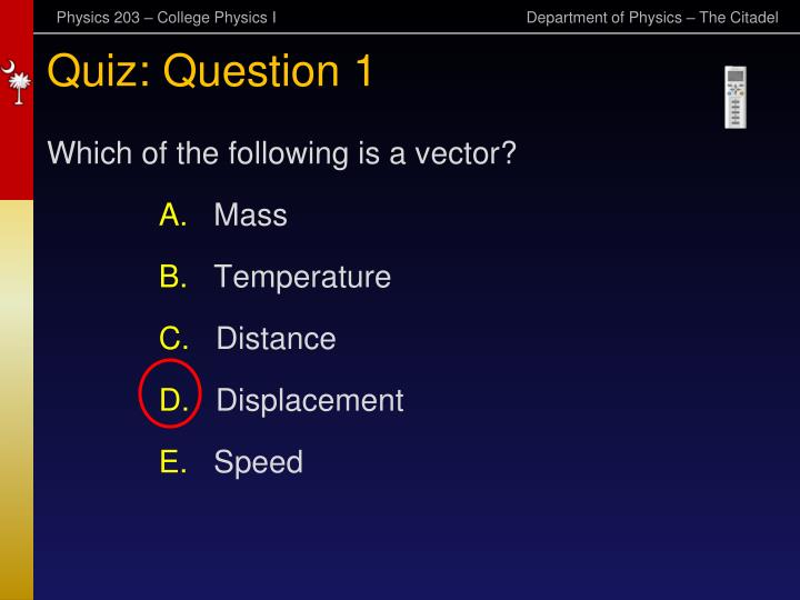 Quiz: Question 1