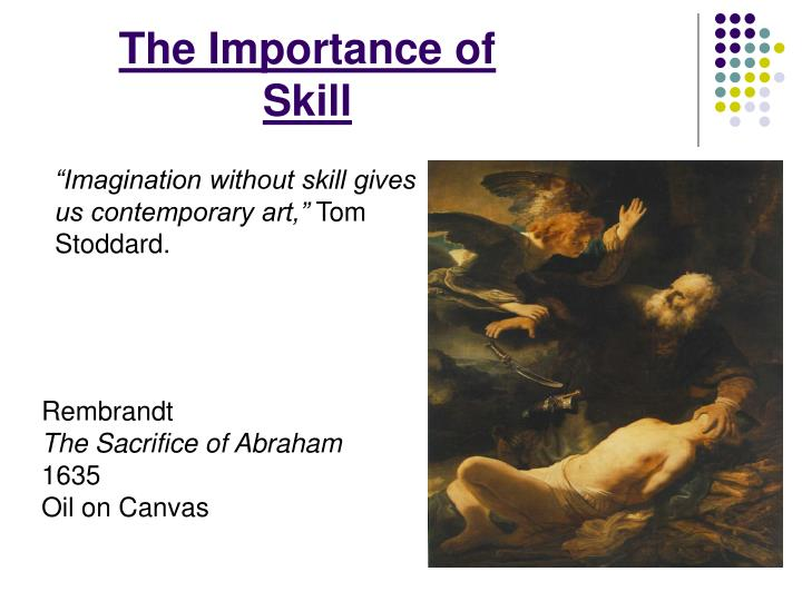The Importance of Skill