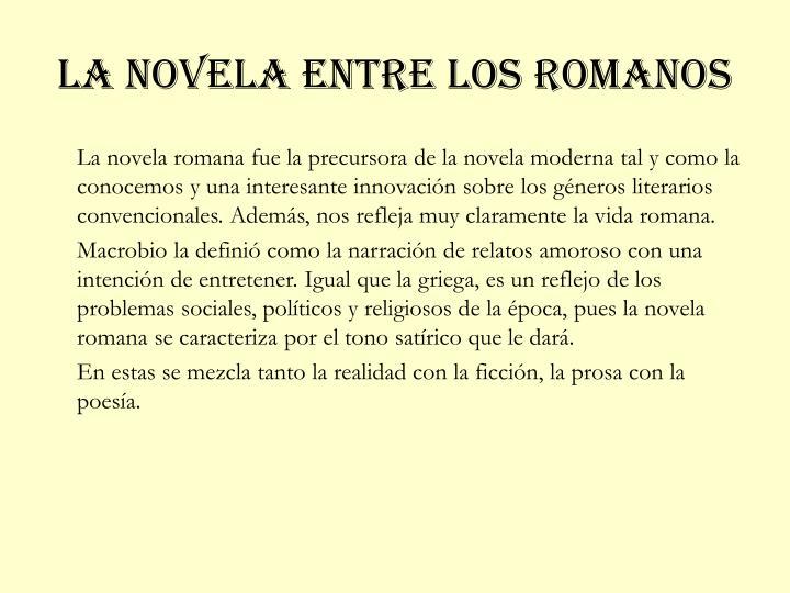 La novela entre los romanos