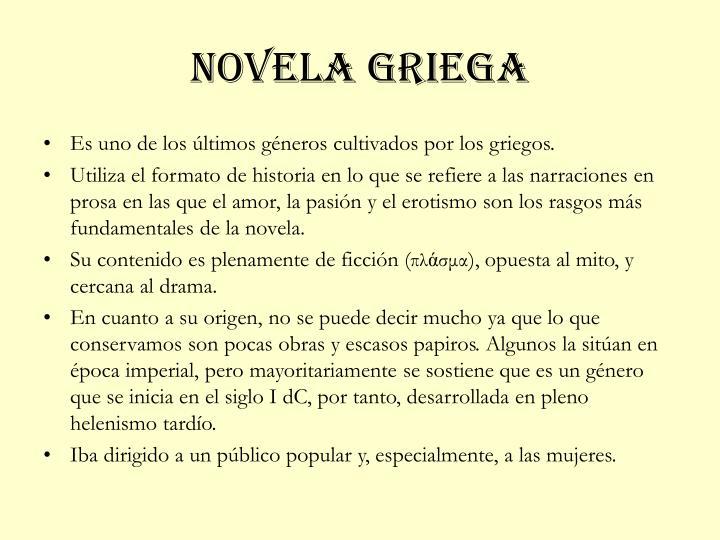 Novela griega