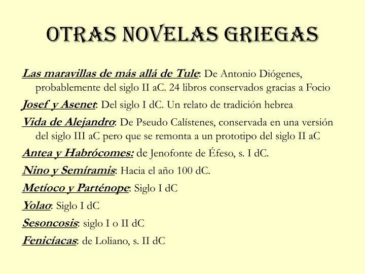 Otras novelas griegas