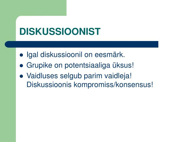 DISKUSSIOONIST