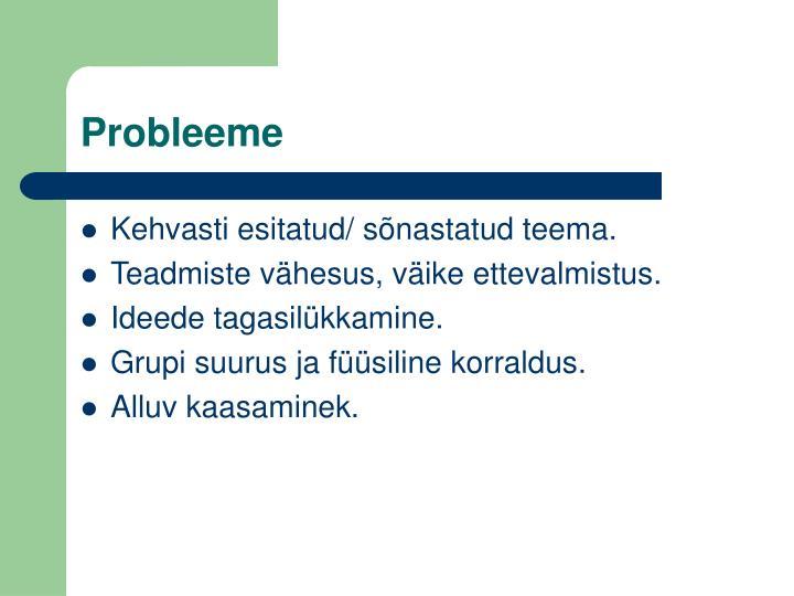 Probleeme