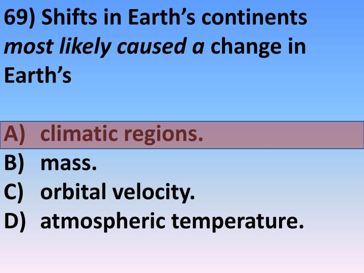 69) Shifts in Earth's continents