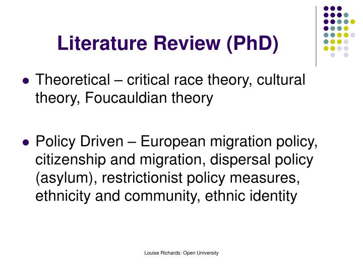 Literature Review (PhD)