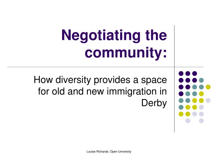 Negotiating the community