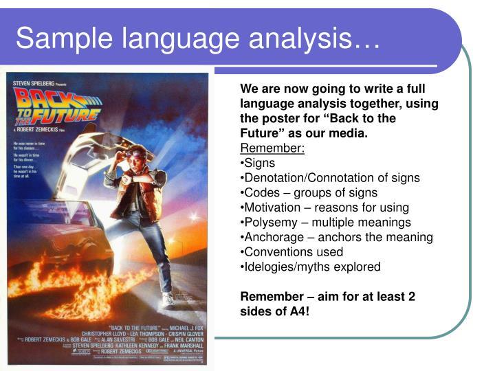 Sample language analysis…