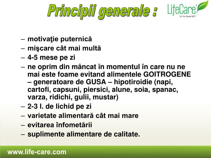 Principii generale :