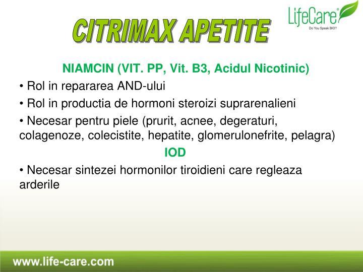 NIAMCIN (VIT. PP, Vit. B3, Acidul Nicotinic)