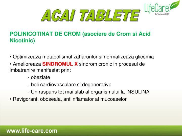 POLINICOTINAT DE CROM (asociere de Crom si Acid Nicotinic)