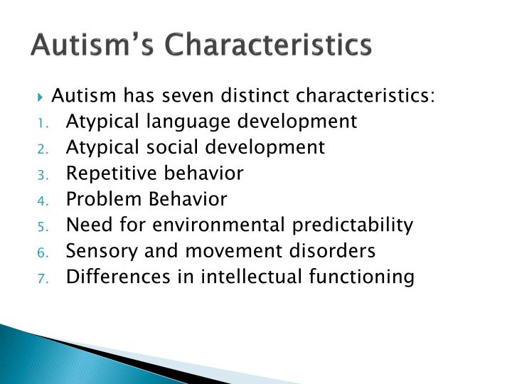 autism characteristic