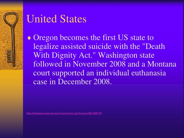 assisted suicide should be legalized in the united states of america Agudath israel of america  it seemed as though new mexico had inched closer to being the fifth state in the united states to legalize assisted suicide via a.