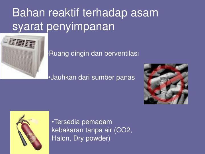 Bahan reaktif terhadap asam