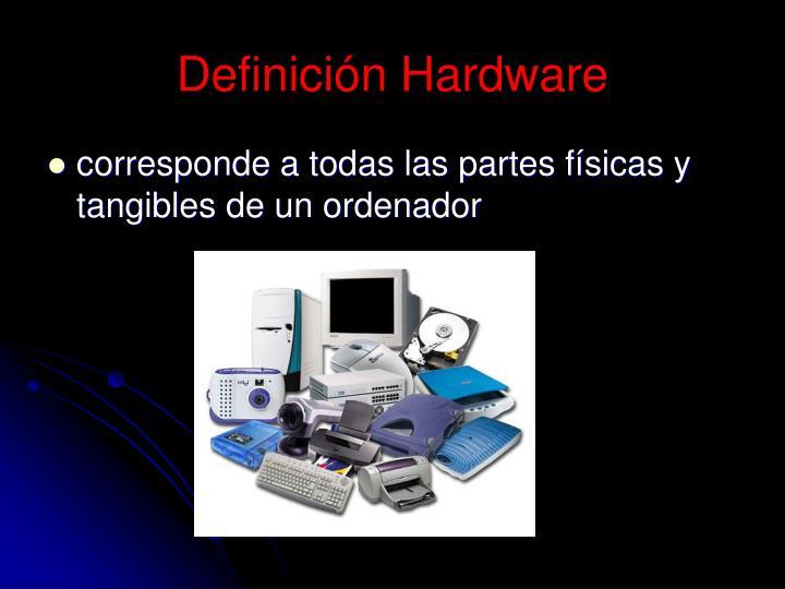Definición Hardware