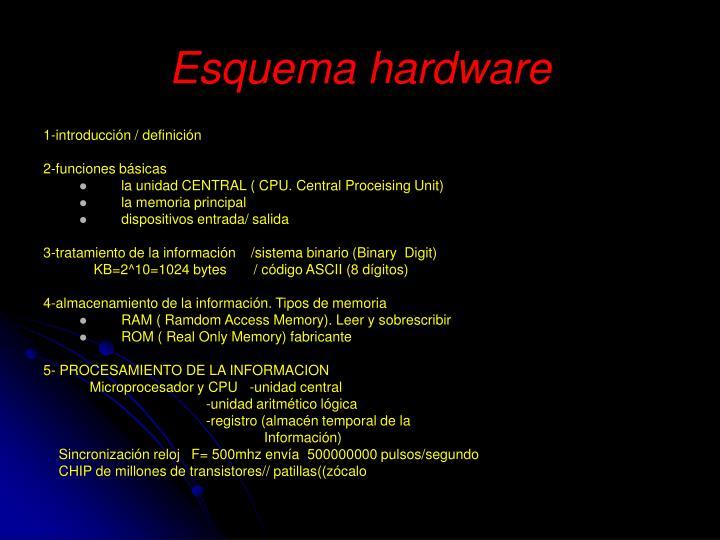 Esquema hardware