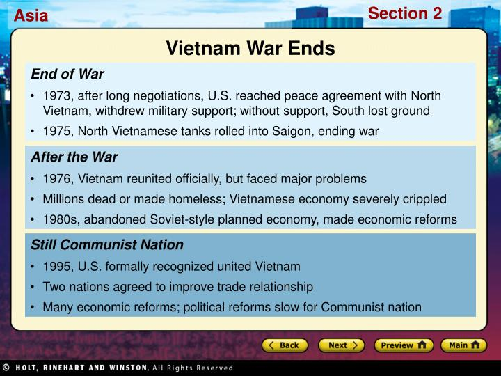 Vietnam War Ends