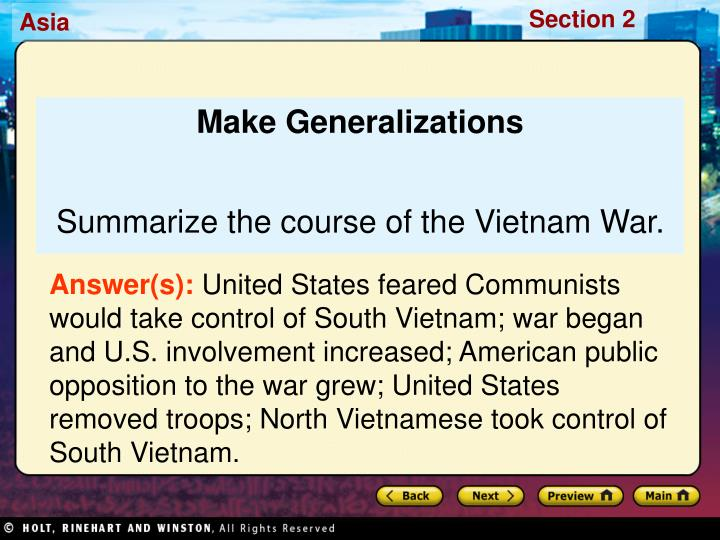 Make Generalizations