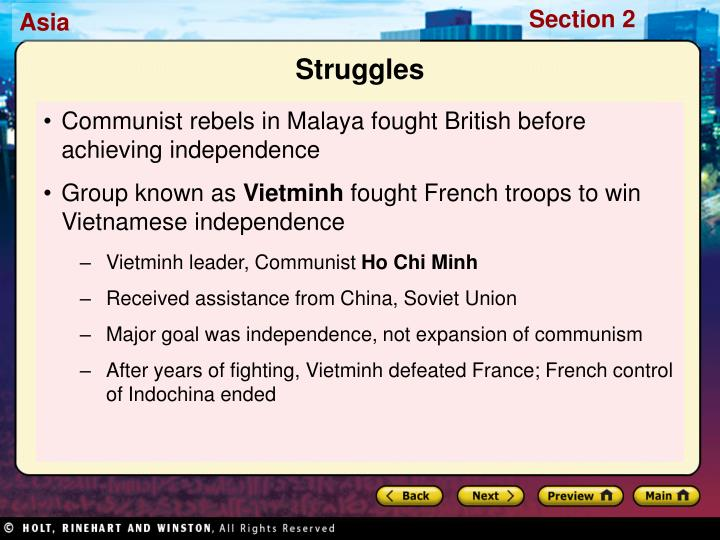 Communist rebels in Malaya fought British before achieving independence