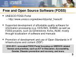 free and open source software foss