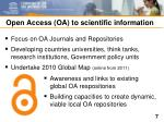 open access oa to scientific information