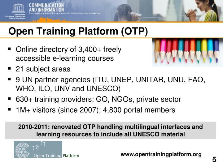 Open Training Platform (OTP)